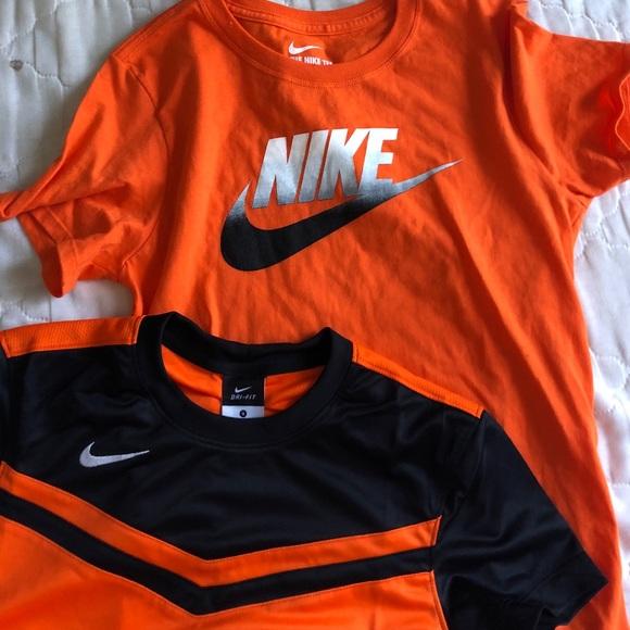 nike shirt with orange